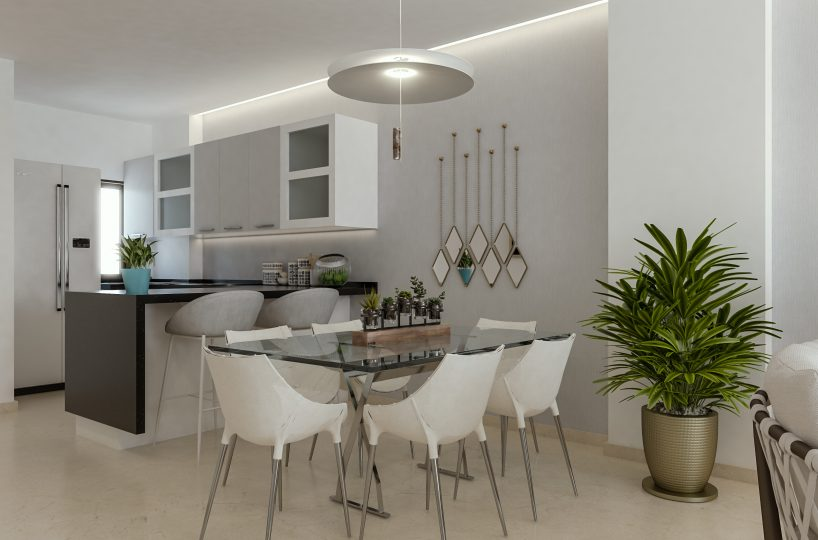 Cana Rock Star - Living Room and Kitchen